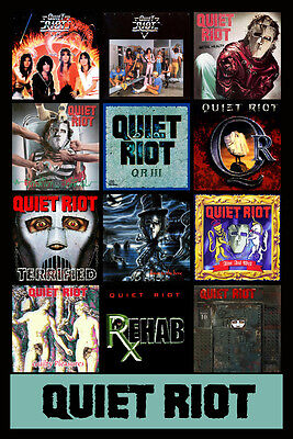 "QUIET RIOT album discography magnet (4.5"" x 3.5"") metal health bang your head"