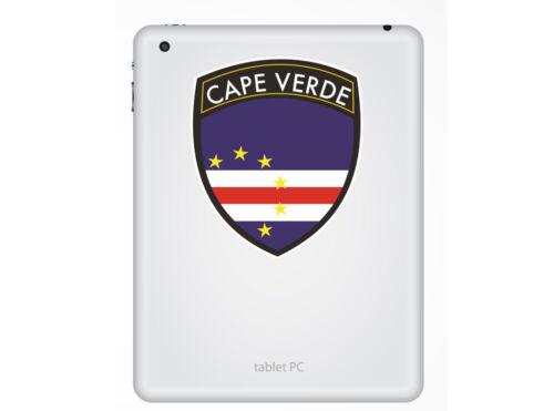 2 X Pegatinas de vinilo de diseño de la bandera de Cabo Verde Viaje Equipaje #10660