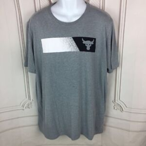 Under-Armour-Mens-2XL-Activewear-T-Shirt-Gray-Heathered-Loose-Fit-Heat-Gear
