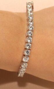 "5.67 Ct Round Cut Diamond 14K Yellow Gold Finish 7/"" Tennis Bracelet"
