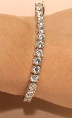 14K Rose Gold Finish Round Diamond Adjustable Women/'s Chain Bracelet 1ct