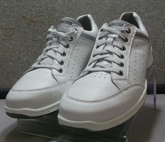 VALENTIN PERF WHITE MMMS75 Men's shoes Size 8.5 () Leather Lace Up Mephisto