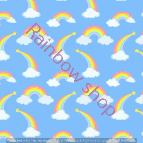 A4 PASTELLO Arcobaleni capelli costruzione di arco Stampa Tela Tessuto Materiale