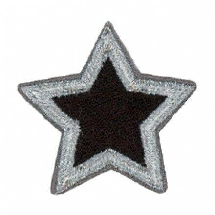 estrella de plata//negro 1 St 06681 Mono Quick applikationenteens and jeans