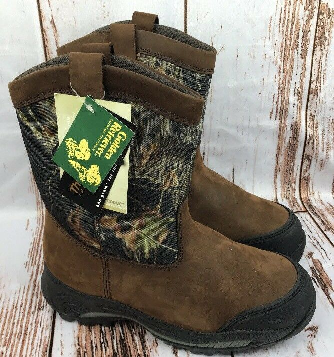 GoldEN RETRIEVER Mens Sz 10 Wide Stiefel Camo Waterproof Insulated Leather NWT
