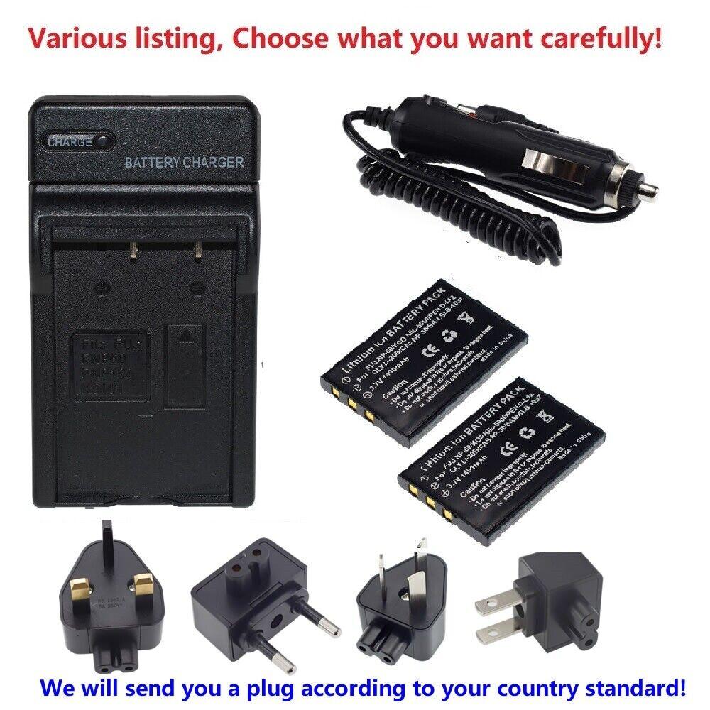 FNP60 Battery or Regular Charger for SAMSUNG Digimax U-CA501 U-CA505 V700 V800