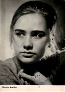 Autogrammkarte-Autograph-Film-Buehne-DDR-Starfoto-signiert-Micaela-Kreissler-Foto