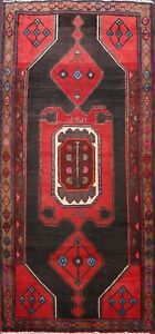 Vintage-Geometric-Traditional-Area-Rug-Wool-Hand-knotted-Oriental-Carpet-4-039-x8-039