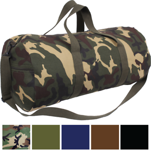 Image is loading Best-Canvas-Duffle-Bag-24-034-x-12- 0210d31d7f5de