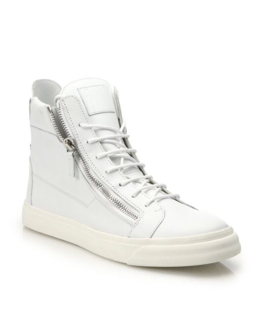 094924687a083 Giuseppe Zanotti  London  White Leather High-Top Sneakers Size 43 10