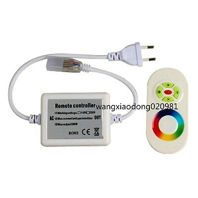 RF RGB LED Dimmer Controller Touch Panel Remote For 3528 5050 RGB strip 220v 18A