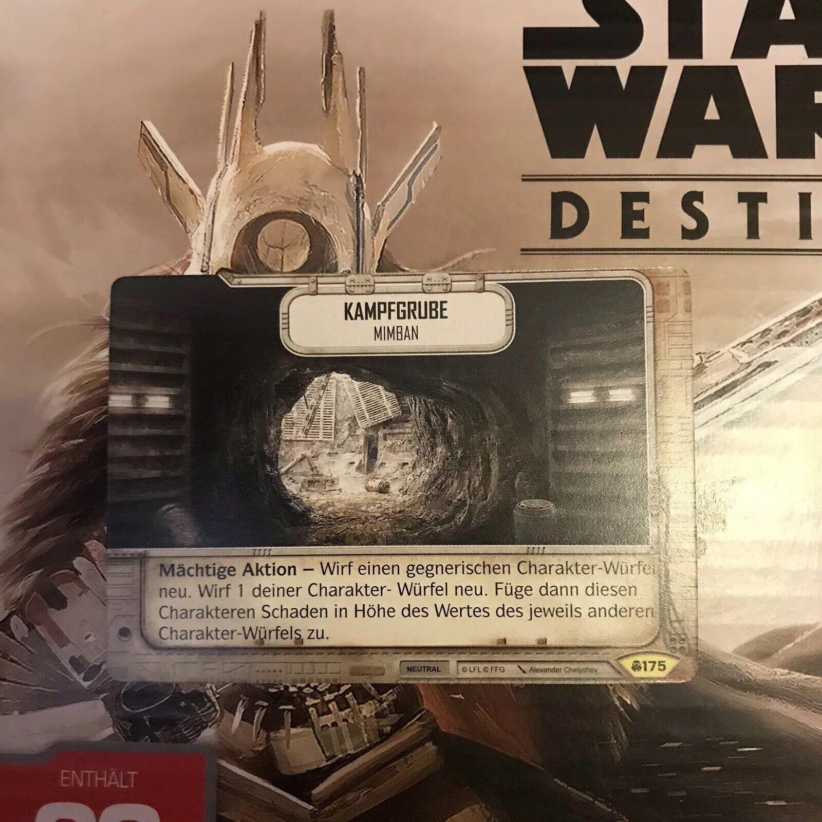 Star Wars Destiny Konvergenz #175 Kampfgrube Uncommon DE Mint