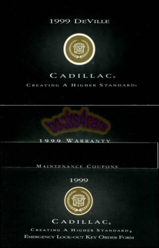 DEVILLE OWNERS MANUAL 1999 CADILLAC BOOK HANDBOOK 99