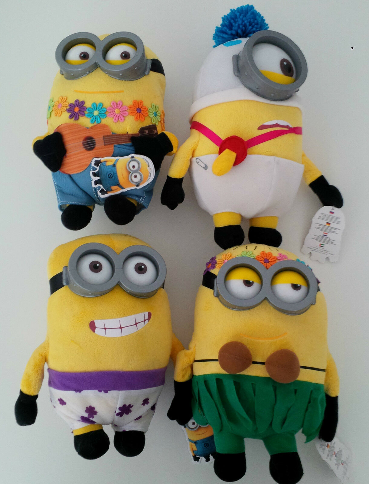 Soft toy Minion 3D HAWAII Original 2015 Eyes + Glasses Real MINIONS 2015 FILM