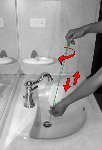 Snake Hair Drain Clog Remover Auger Plumber Cleaning Tool 26 Inch 3 Pack Home