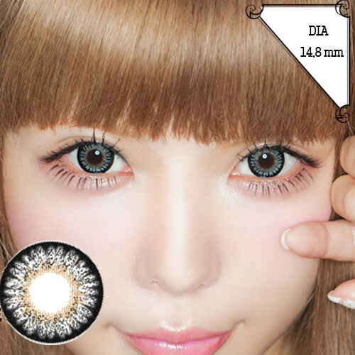 Grau Farbige Kontaktlinsen Color Contact Circle Lenses DIA14.8mm PmG