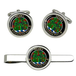 Kinninmond-Scottish-Clan-Cufflinks-and-Tie-Clip-Set