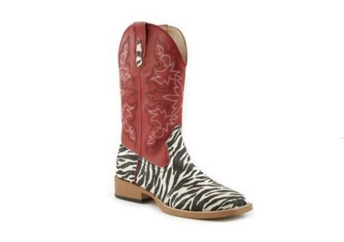 Roper Women's Zebra Print Western Boot RE