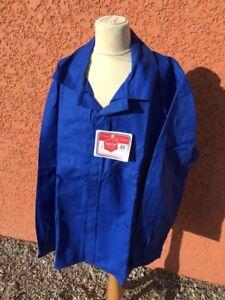 Alt Bluse ,blau Arbeits- Größe 56/100% Baumwolle Sait Warm Und Winddicht
