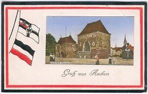1917-Deutsche-Feldpostkarte-Gruss-aus-Aachen-034-Ponttor-034