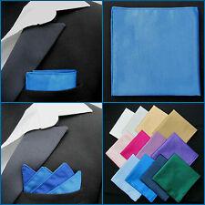 Mens Royal Blue Pocket Square Faux Silk Handkerchief / Hankie / Kerchief