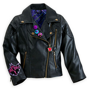 Disney Store Descendants MAL Costume Black Faux Leather Jacket ...