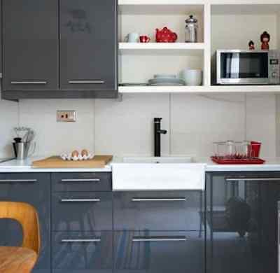 Ikea Ringhult Gloss Gray Corner Base Cabinet Door Set Discontinued Ebay