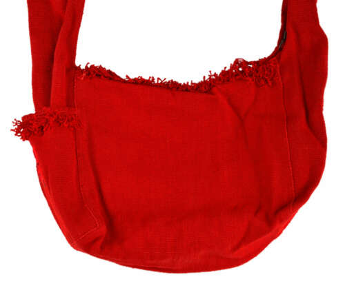 26x28cm Handarbeit Nepal Umhängetasche mit Fransen Schultertasche Baumwolle