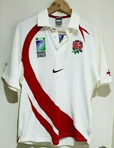 ENGLAND Rugby Union World Cup 2007 home shirt Jersey NIKE Red BNWT SZ Small