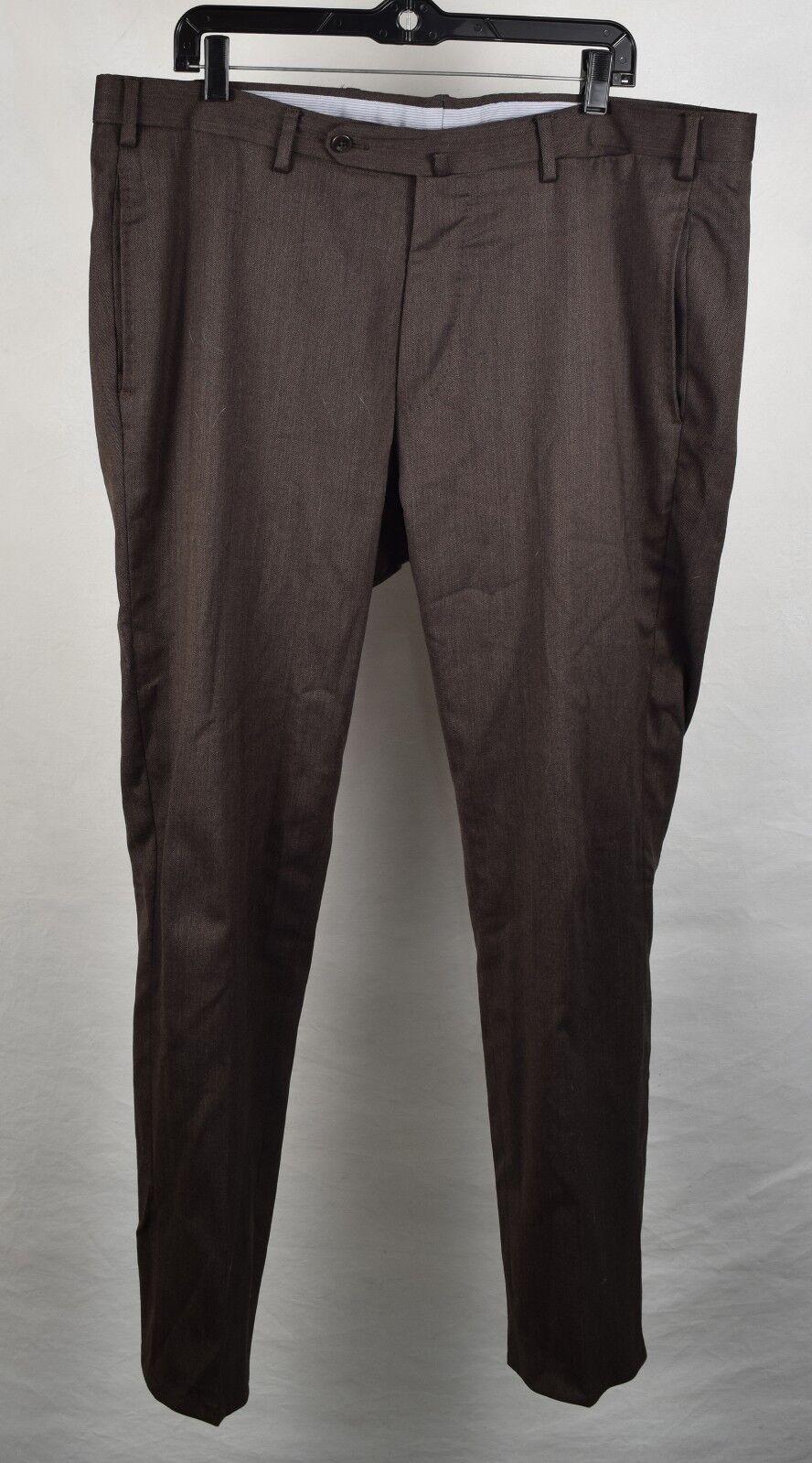 Incotex Mens Dress Pants Slowear High Comfort Wool Brown 38