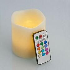 One Medium LED Light Candle Set - Colour Changing Candles with Remote Control