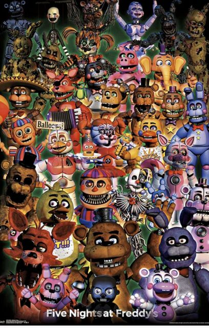 Five Nights At Freddy/'s Band Wall Poster FREE S//H 22x34