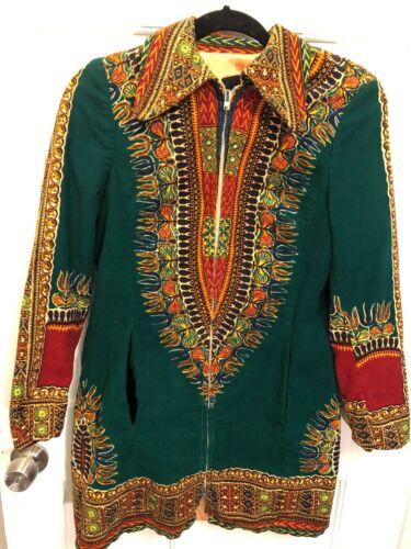 141. Utex Women's Vintage Green Ethnic Boho Velvet