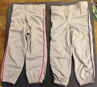 Grey Champro Baseball Pants with Blue or Red Piping, Youth and Adult Sizes