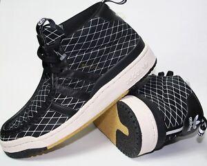 Nouveau-Adidas-Originals-Men-039-s-BRACKEN-Baskets-en-daim-noir-carreaux-Taille-UK-7-RRP-99