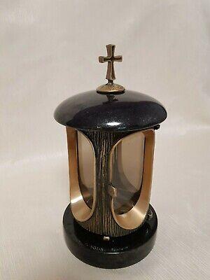 Grave Lantern Granite Swedish black  Flower Decoration  Grave Lamp