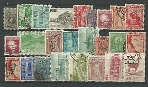 PERU-STAMP-COLLECTION-amp-PACKET-of-25-DIFFERENT-Used-Stamps-NICE-SELECTION