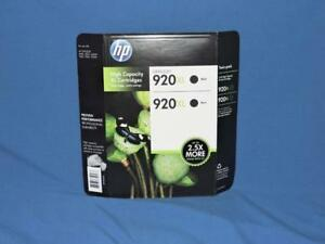 HP-920XL-Black-2-Pack-Printer-Ink-Cartridges-920-XL-High-Yield-NEW-Officejet