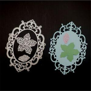 Stanzschablone-Liane-Blume-Oval-Weihnachten-Hochzeit-Geburtstag-Karte-Album-DIY