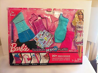 Barbie Fashion Design Plates 20 Dress Designs Create Dresses Front And Back New Ebay