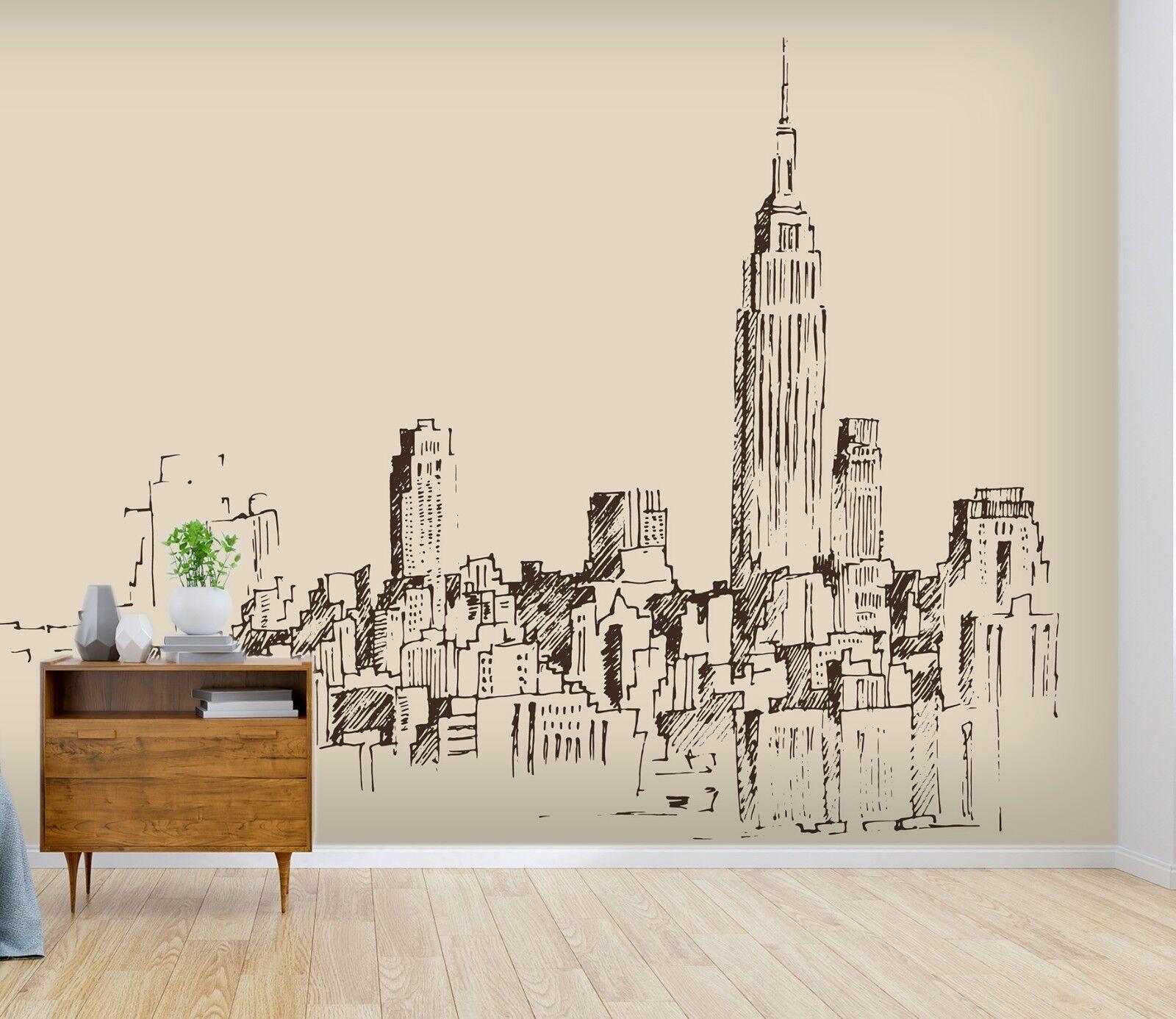 3D Building City 996 Wall Paper Murals Wall Print Wall Wallpaper Mural AU Summer