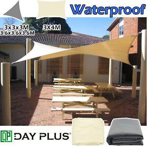 Sun Shade Sail Garden Patio Sunscreen Awning Canopy Screen Waterproof Large Size