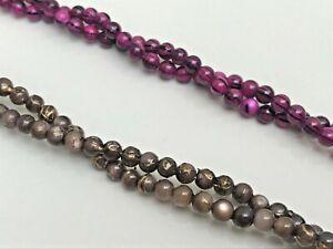 100 X Perles En Coquillages, Petit Format 4 Mm, Espaceur Perles, 2 Couleurs Disponibles, Royaume-uni Vendeur-afficher Le Titre D'origine
