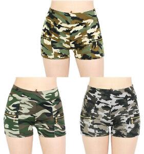 Details zu Damen Shorts Army Hot Pants Camouflage Look Kurze Hose