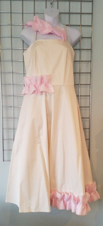 Paskal Milk & Bubblegum Frill Strap Dress