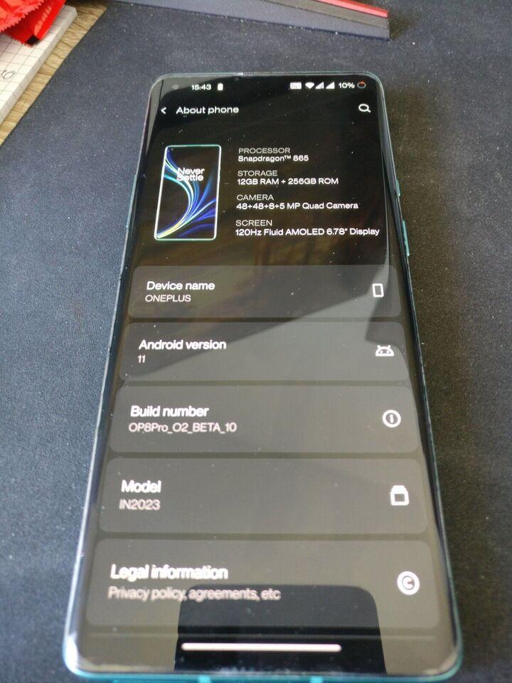 OnePlus 8 Pro, 256GB. 12GB RAM , Perfekt
