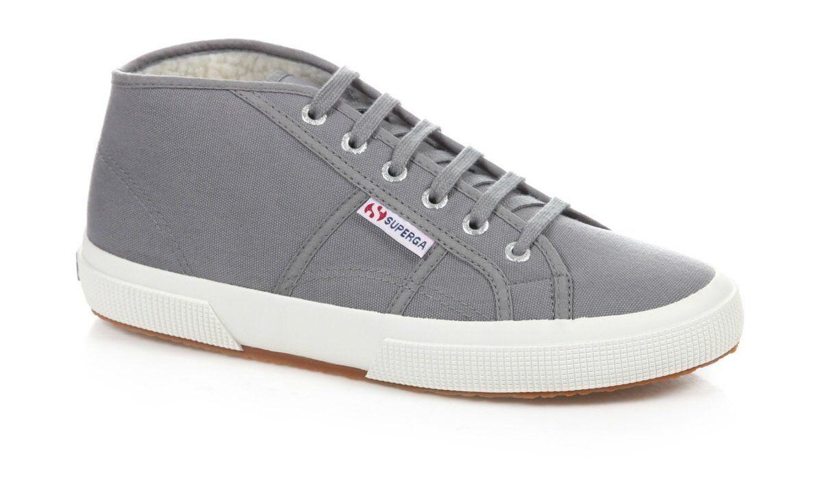 Superga Mid Top Sneaker Canvas Trainer Shoes 7.5/41.5 Grey BNWT RRP £60 Sage Grey 7.5/41.5 de739d