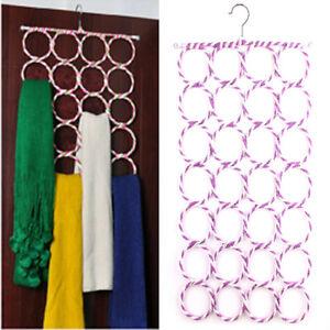 Multi-Scarf-Hanger-Circle-Holder-Wardrobe-Space-Organizer-Storage-For-Ties-Belt