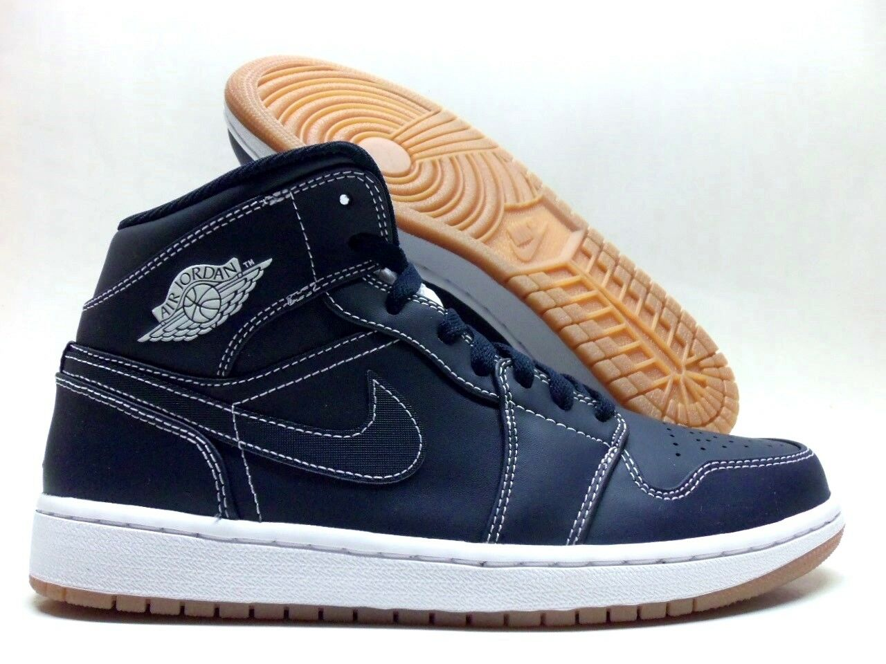 NIKE AIR JORDAN 1 MID RE2PECT OBSIDIAN/WHITE-GUM SIZE MEN'S 8.5 [AH6342-402]