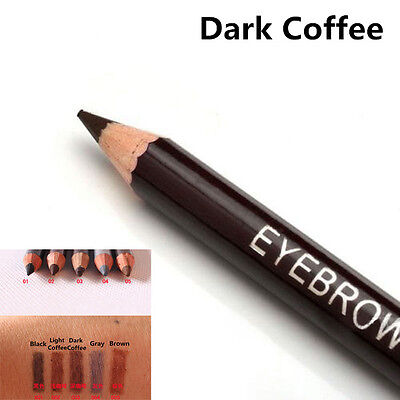 Leopard Women Eyebrow Waterproof Black Brown Pencil With Brush Make Up Eyeliner